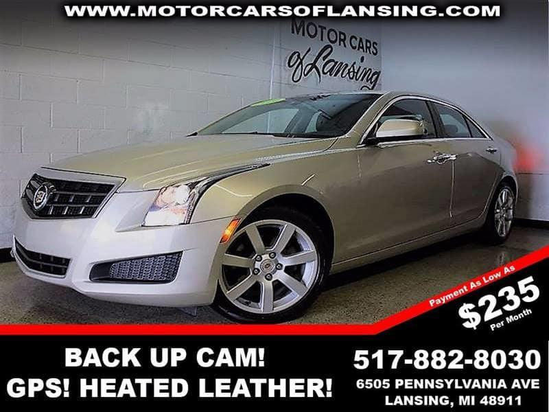 2014 CADILLAC ATS 25L 4DR SEDAN silver coast metallic remaining factory warranty  clean carfax