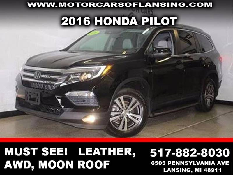 2016 HONDA PILOT EX L WNAVI AWD 4DR SUV black forest pearl all wheel drive   parking sensors