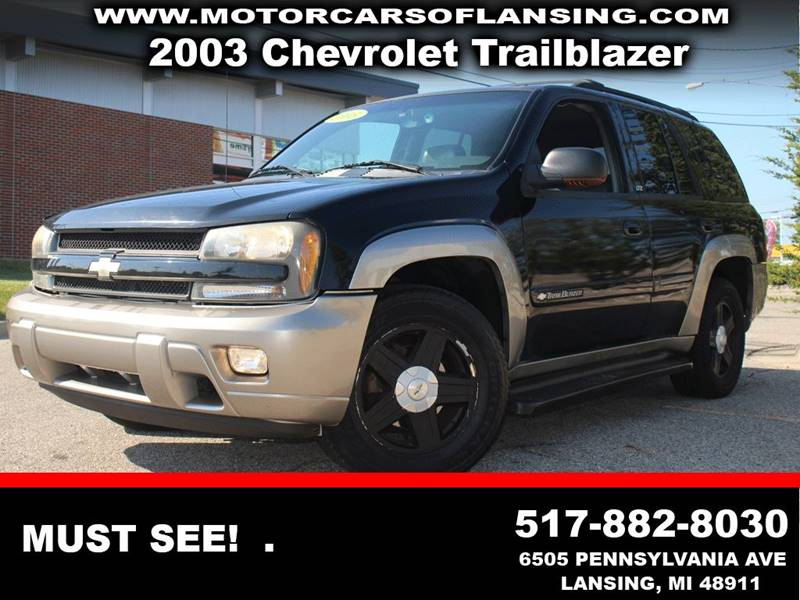 2003 CHEVROLET TRAILBLAZER LTZ 4DR SUV black leatherloaded4x4 this vehicle is ready for the mic