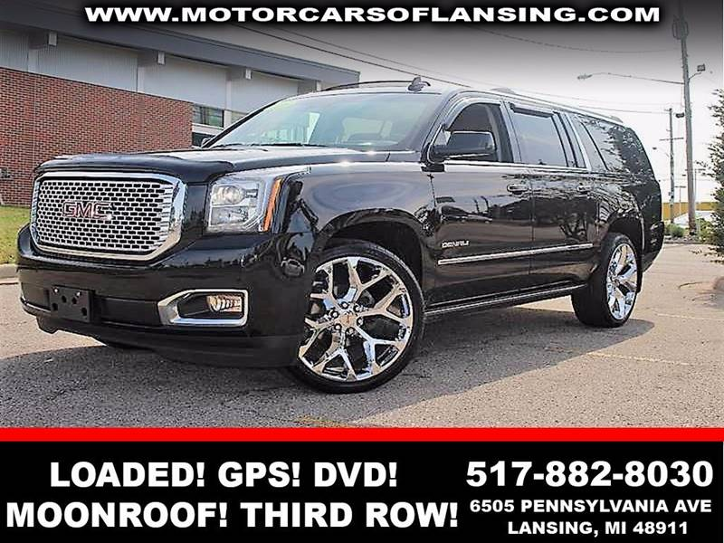 2016 GMC YUKON XL DENALI 4X4 4DR SUV black power running boards24in factory wheelsfully loaded