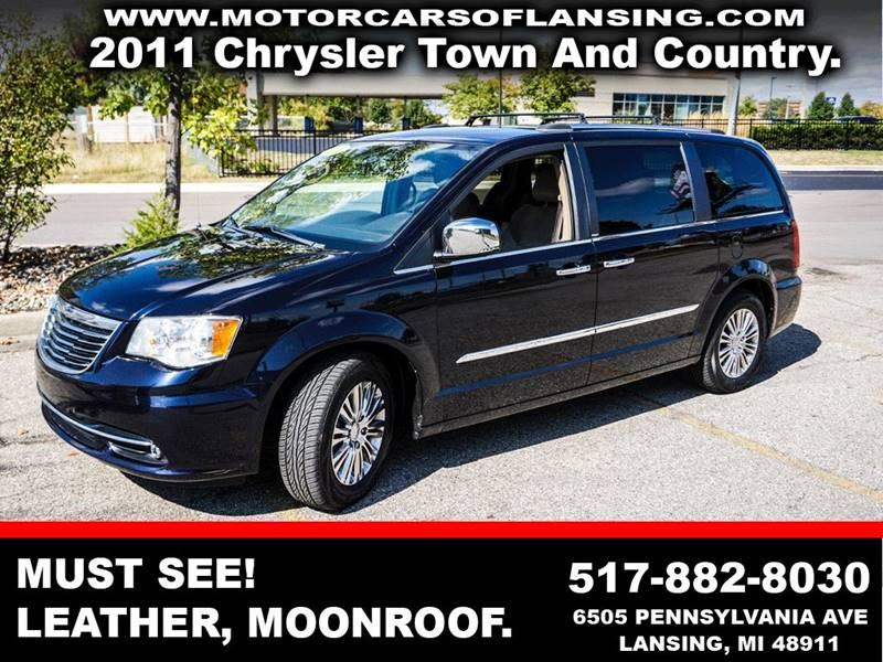 2011 CHRYSLER TOWN AND COUNTRY LIMITED 4DR MINI VAN black back-up camera heated seats - driver an