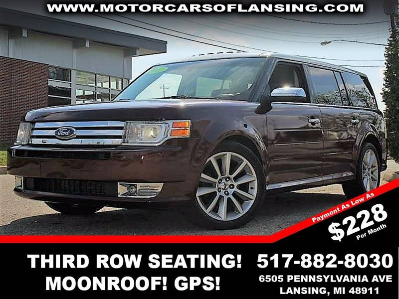 2010 FORD FLEX LIMITED AWD 4DR CROSSOVER WECOB burgundy leathernavigationmoonroof third row se
