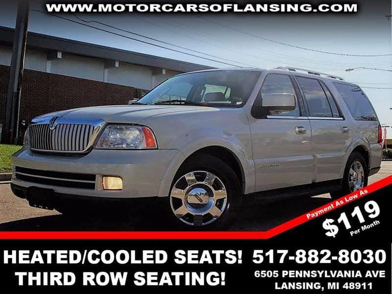 2006 LINCOLN NAVIGATOR ULTIMATE 4DR SUV 4WD white heatedcooled seatesleather rear air  power