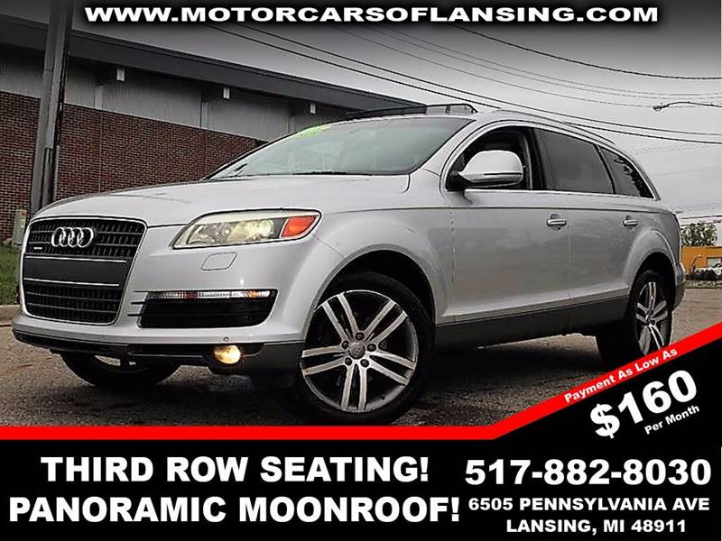 2008 AUDI Q7 42 PREMIUM QUATTRO AWD 4DR SUV silver loadedleatherthird row seating runs and lo