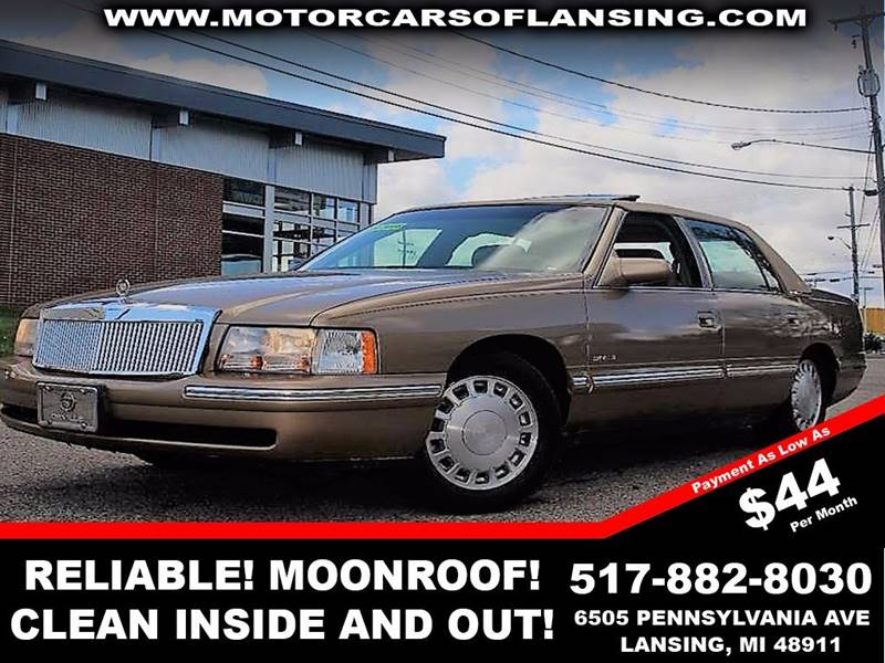 1998 CADILLAC DEVILLE BASE 4DR SEDAN gold must seeclean inout front air conditioning front ai