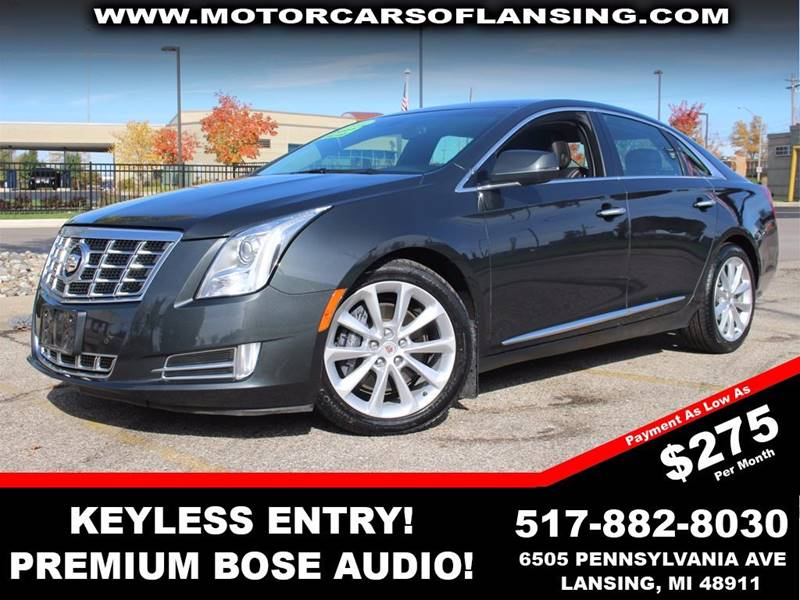 2013 CADILLAC XTS LUXURY COLLECTION 4DR SEDAN graphite metallic parking sensors   heatedcooled f