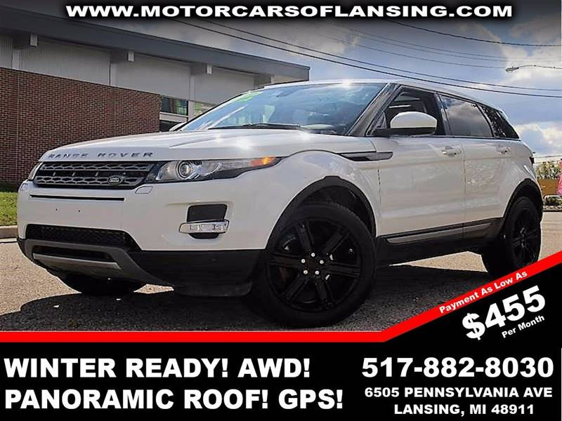 2014 LAND ROVER RANGE ROVER EVOQUE PURE PLUS AWD 4DR SUV fuji white all wheel drive   parking sen