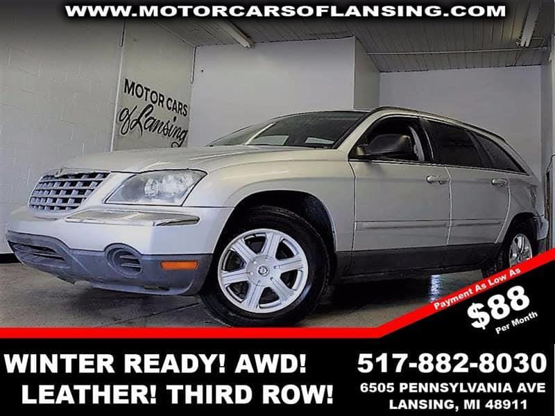 2006 CHRYSLER PACIFICA TOURING AWD 4DR WAGON silver awd leather third row seating auxiliary d