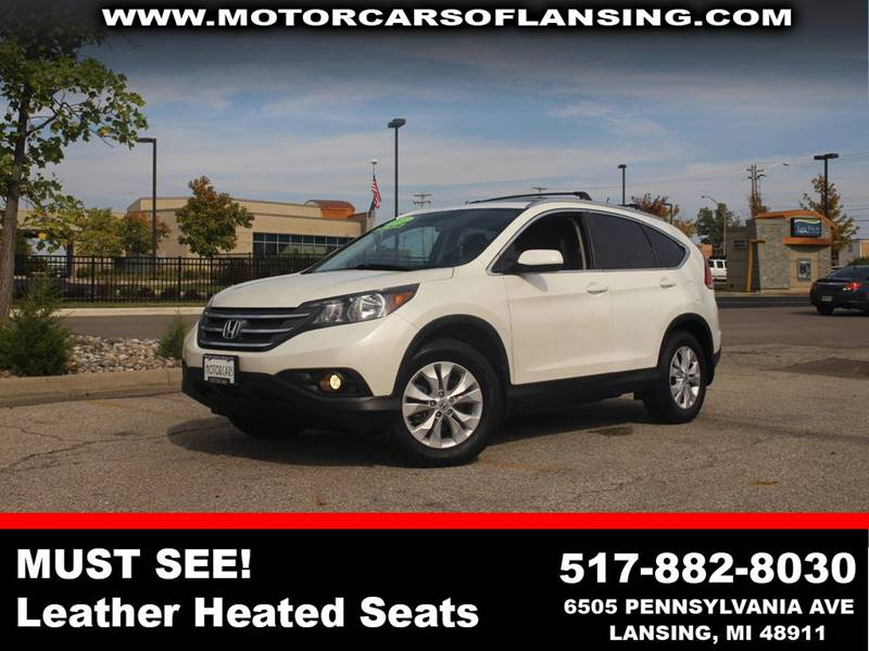 2013 HONDA CR-V EX L AWD 4DR SUV white like new inside and outleathermoonroofmust seeeco moo