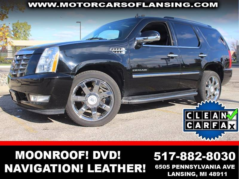2011 CADILLAC ESCALADE LUXURY AWD 4DR SUV black ice metallic all wheel drive remote start