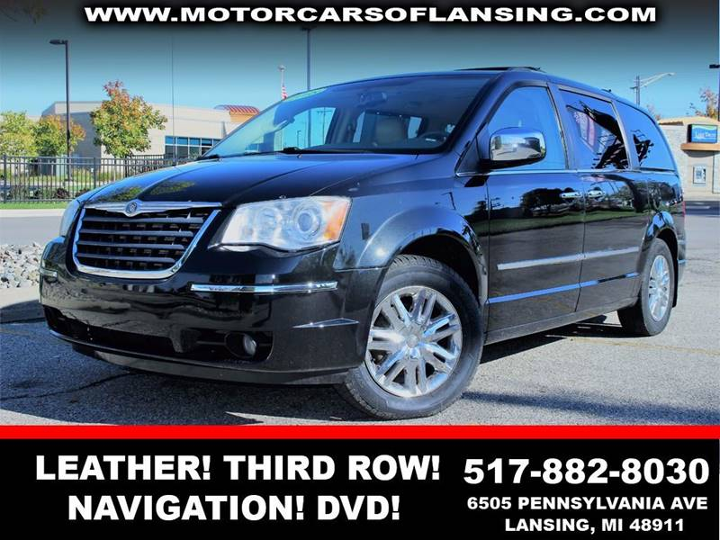 2008 CHRYSLER TOWN AND COUNTRY LIMITED 4DR MINI VAN black  3 month 3000 mile limited powertrai