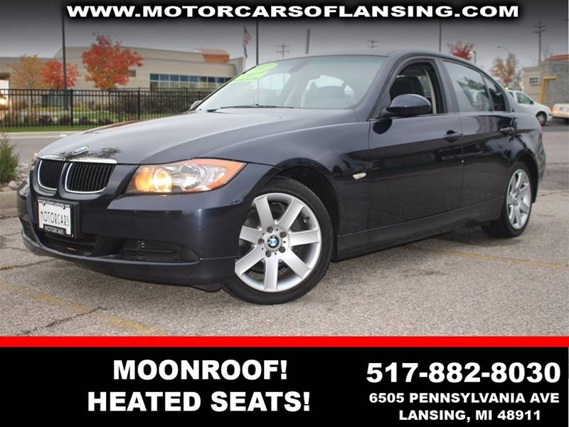 2007 BMW 3 SERIES 323 dark blue heated leather seats    moonroof  motorcars certified 3 month