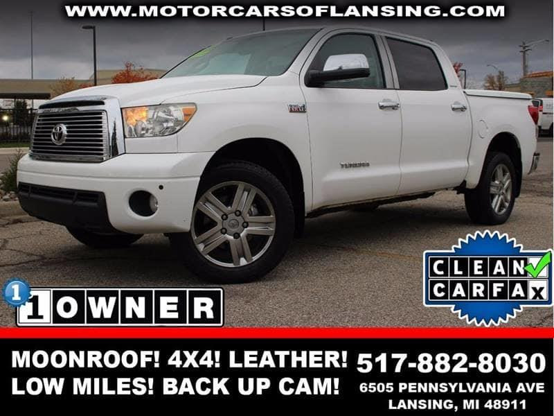 2010 TOYOTA TUNDRA LIMITED 4X4 4DR CREWMAX CAB PICK super white 4x4   heated leather seats   gua