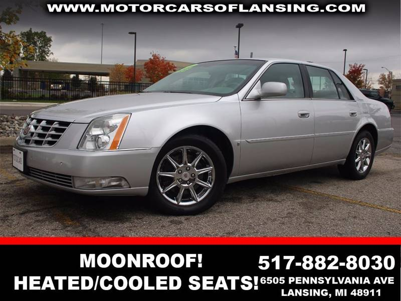2010 CADILLAC DTS LUXURY COLLECTION 4DR SEDAN ocean pearl tricoat paint 8 cylinder parking sensor