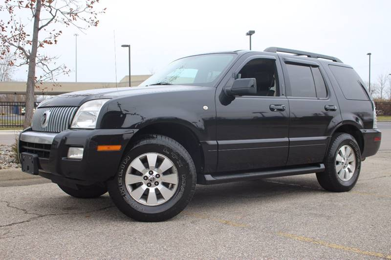 2006 MERCURY MOUNTAINEER LUXURY AWD 4DR SUV black all wheel drive   heated leather seats   rear