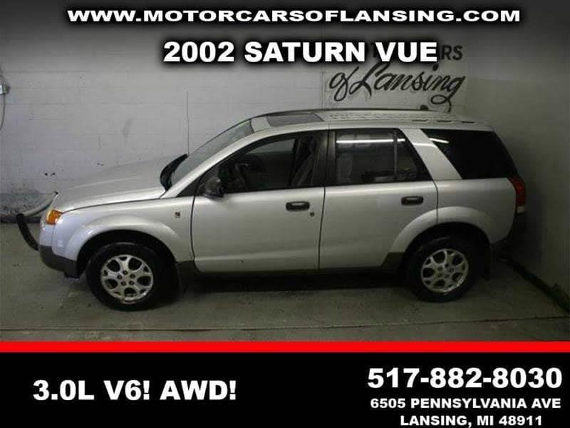 2002 SATURN VUE BASE AWD 4DR SUV V6 silver all wheel drive   local trade in   moonroof   motor