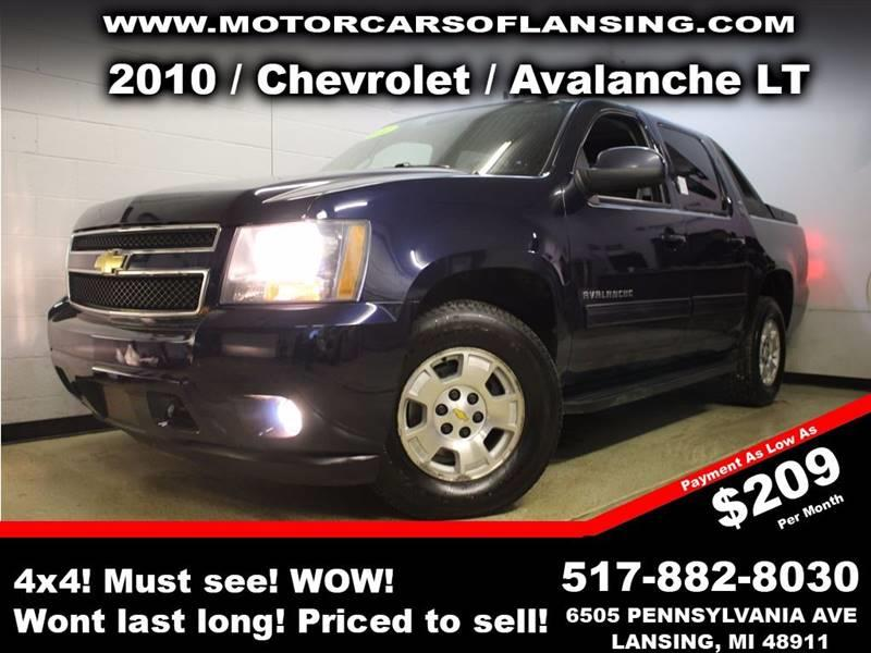 2010 CHEVROLET AVALANCHE LT 4X4 4DR PICKUP blue all customers are welcome to perform an inspectio