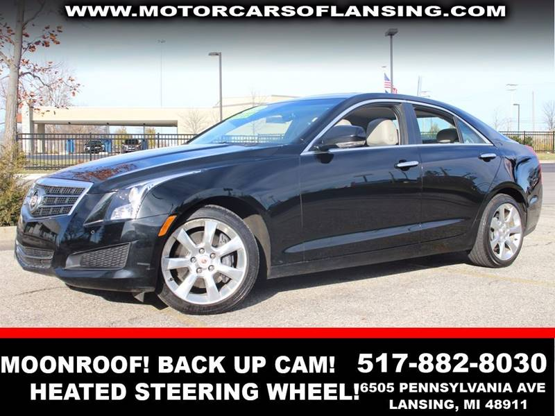 2013 CADILLAC ATS 36L LUXURY AWD 4DR SEDAN black diamond tricoat paint all wheel drive   parking