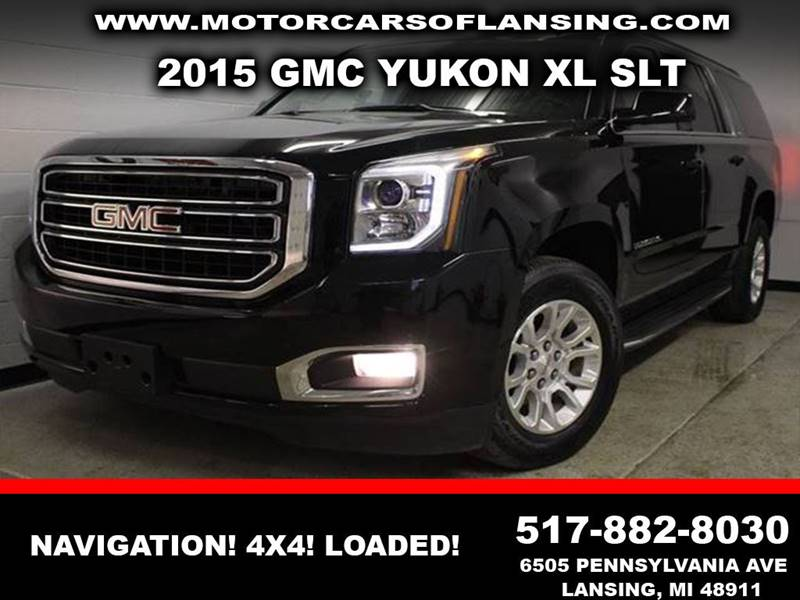 2015 GMC YUKON XL SLT 1500 black clean carfax one owner no previous paint excellent condition