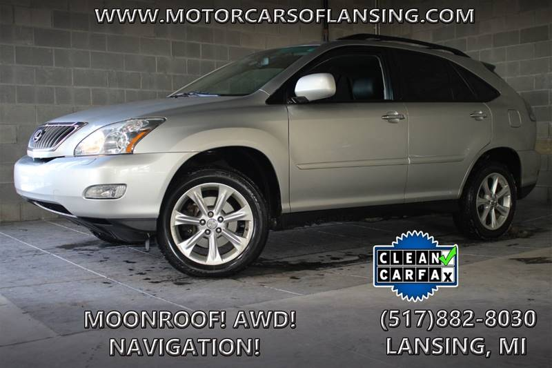 2008 LEXUS RX 350 BASE AWD 4DR SUV silver all wheel drive   local trade in   parking sensors