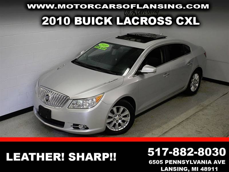 2010 BUICK LACROSSE CXL silver leather sunroof  navigationclean   3 month 3000 mile limited