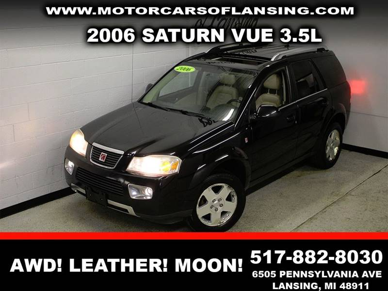 2006 SATURN VUE BASE black leather sunroofnavigationclean  3 month 4000 mile limited power