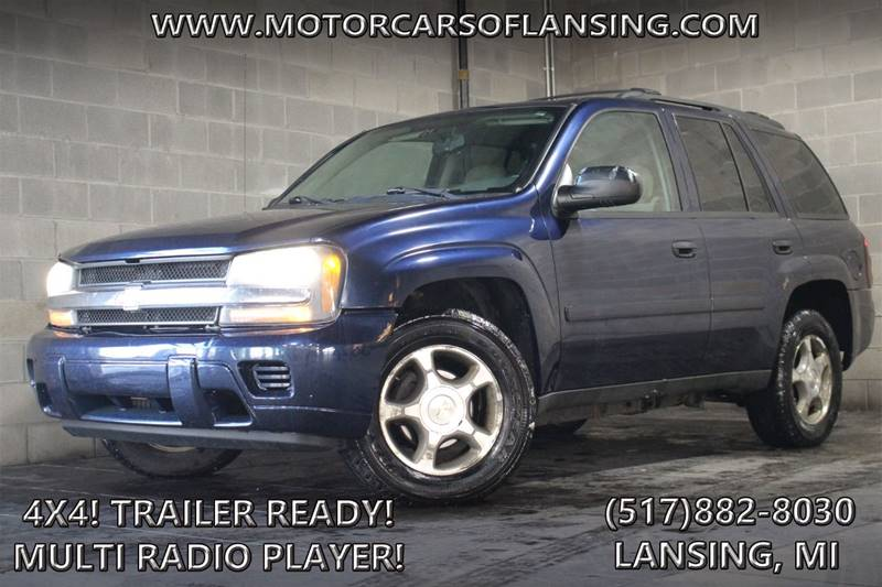2007 CHEVROLET TRAILBLAZER LS 4DR SUV 4WD imperial blue metallic 4x4   local trade in   6 cylin