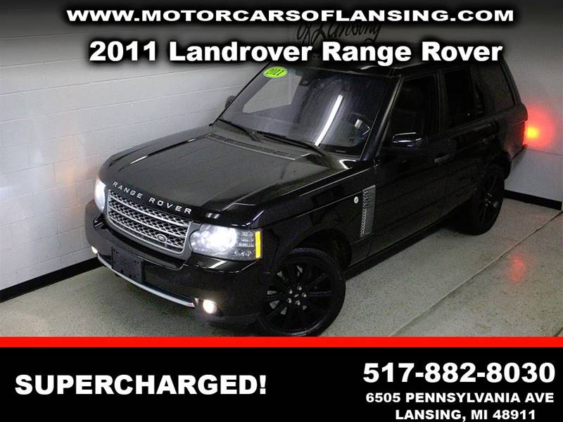 2011 LAND ROVER RANGE ROVER SUPERCHARGED black fully loaded navigationclean   3 month 4000 m