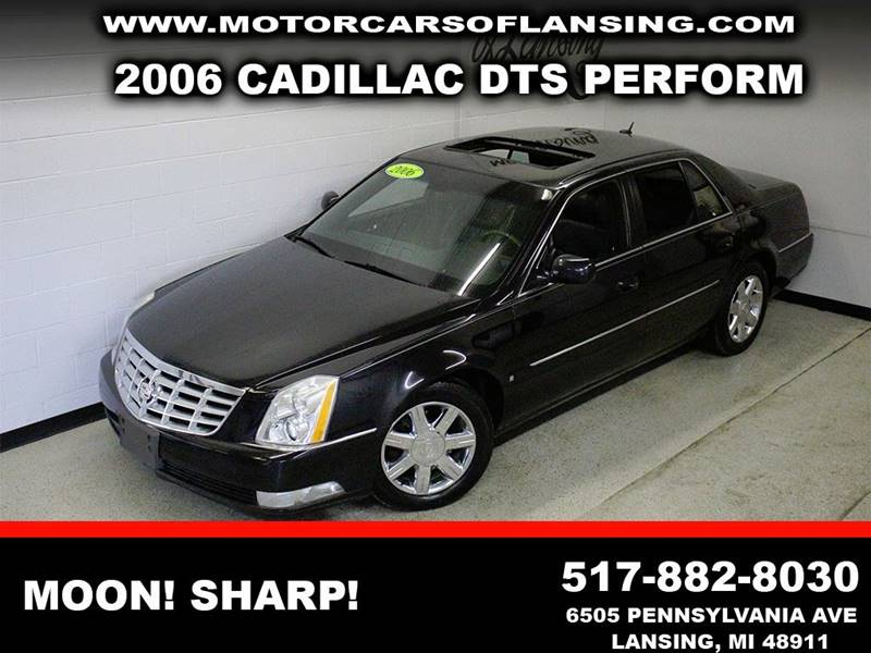 2006 CADILLAC DTS PERFORMANCE black leather sunroof  clean  3 month 4000 mile limited power
