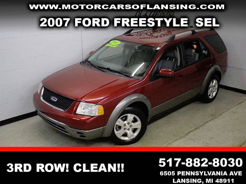 2007 FORD FREESTYLE SEL burgundy third row seating clean  3 month 4000 mile limited powertra