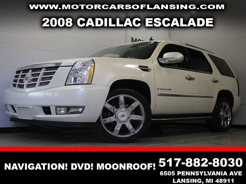 2008 CADILLAC ESCALADE BASE white awd  navigation dvd leather clean sunroof  3 month 40