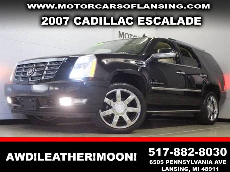 2007 CADILLAC ESCALADE BASE black awd leather  clean 1218  3 month 4000 mile limited power