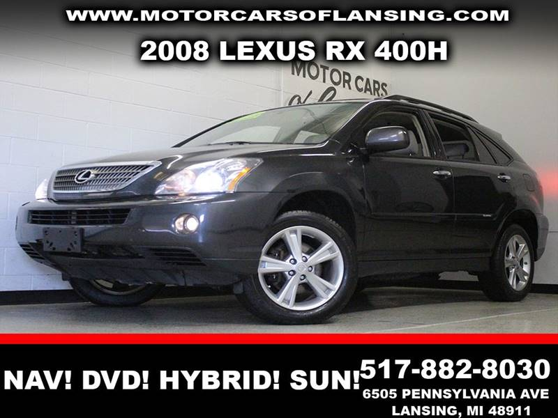2008 LEXUS RX 400H BASE gray awd navigation dvd system hybrid leather sunroof  3 month 4