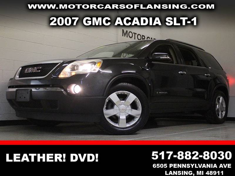 2007 GMC ACADIA SLT-1 gray leather auxiliary outlet full dvd system  3 month 4000 mile limi