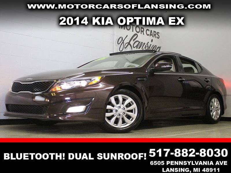 2014 KIA OPTIMA EX brown leather bluetooth dual sunroof  3 month 4000 mile limited powertra