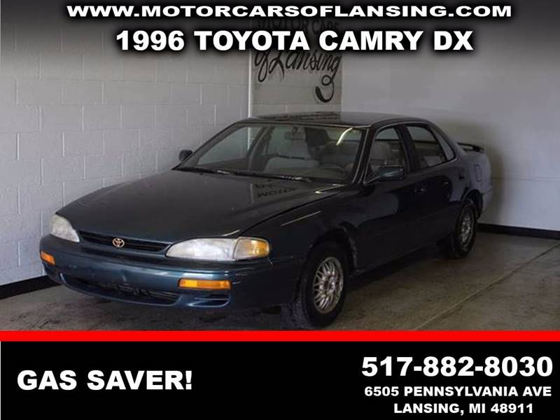 1996 TOYOTA CAMRY DX green  3 month 4000 mile limited powertrain warranty is available in aski