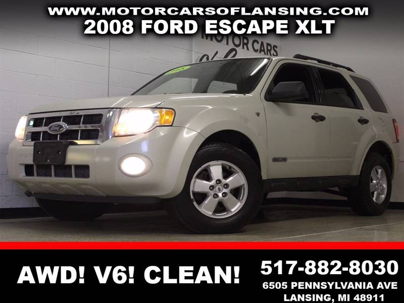 2008 FORD ESCAPE XLT cream awd v6 auxiliary  3 month 4000 mile limited powertrain warranty