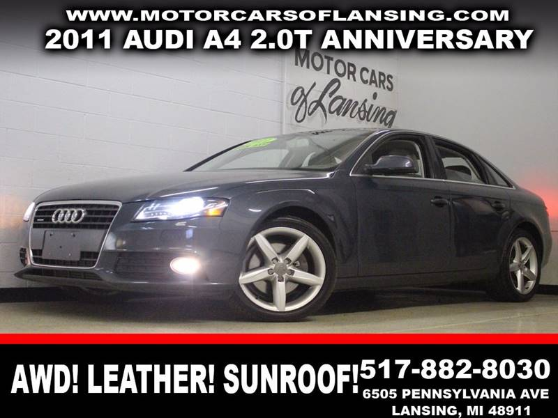 2011 AUDI A4 AWD 20T ANNIVERSARY gray awd leather sunroof bluetooth  3 month 4000 mile li