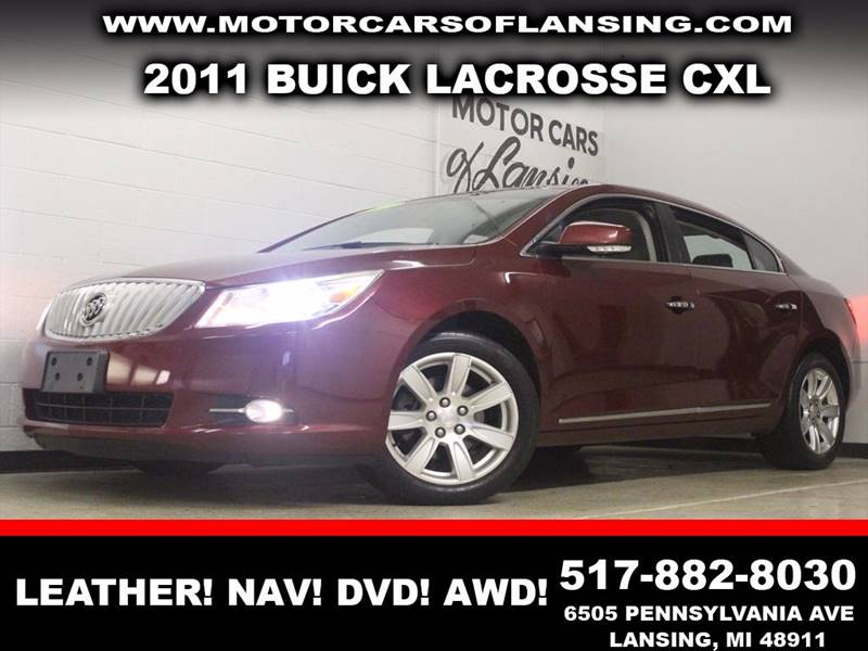 2011 BUICK LACROSSE CXL burgundy awd leather navigation dvd bluetooth  3 month 4000 mile