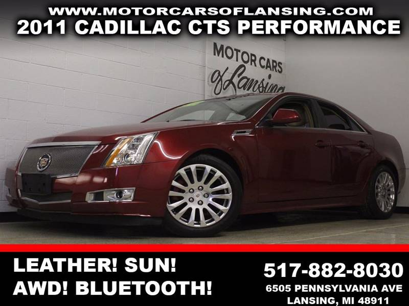 2011 CADILLAC CTS 36L PERFORMANCE burgundy leather sunroof awd bluetooth usb auxiliary