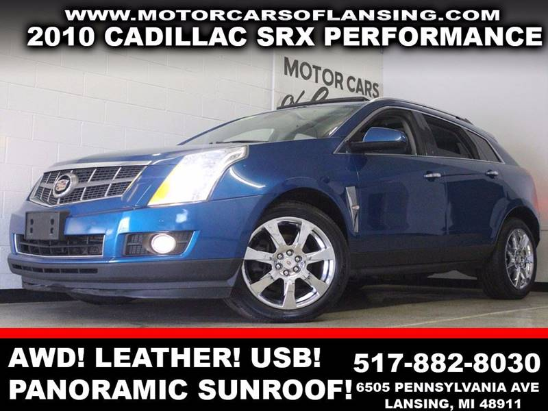 2010 CADILLAC SRX PERFORMANCE COLLECTION AWD 4DR S blue awd leather panoramic sunroof usb aux