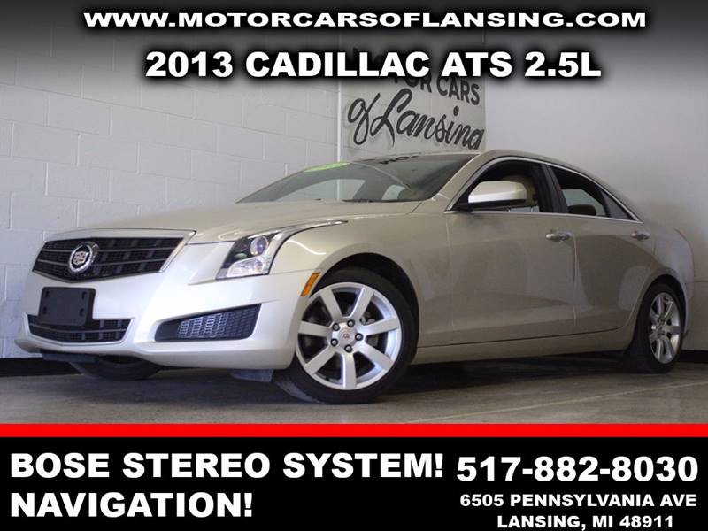 2013 CADILLAC ATS 25L beige navigation bluetooth  dual zone ac bose stereo   3 month 400