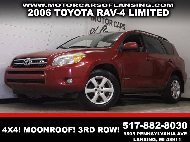 2006 TOYOTA RAV4 LIMITED burgundy 4wd sunroof auxiliary dual zone ac 3rd row  3 month 40