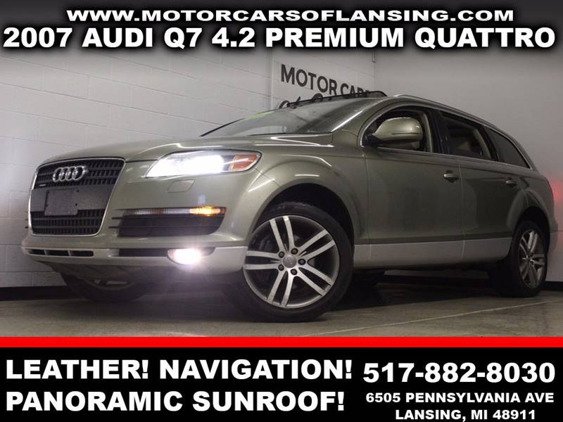 2007 AUDI Q7 42 PREMIUM QUATTRO green leather awd panoramic sunroof backup camera navigation