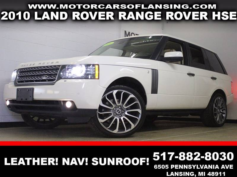 2010 LAND ROVER RANGE ROVER HSE white leather navigation bluetooth sunroof 4x4  3 month 4