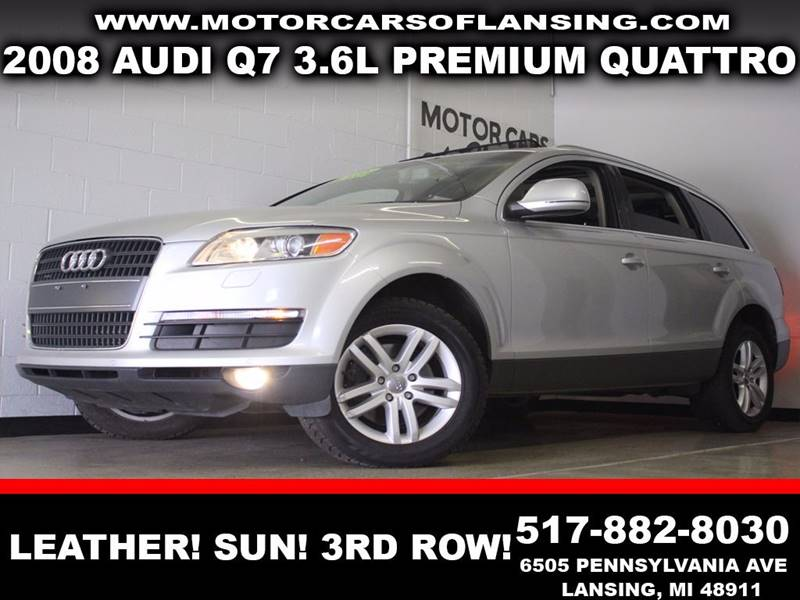 2008 AUDI Q7 36 PREMIUM QUATTRO silver awd leather  3 month 4000 mile limited powertrain wa