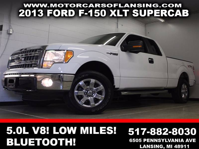 2013 FORD F-150 XLT white dual zone ac bluetooth usb auxiliary xtr flex fuel  3 month 4