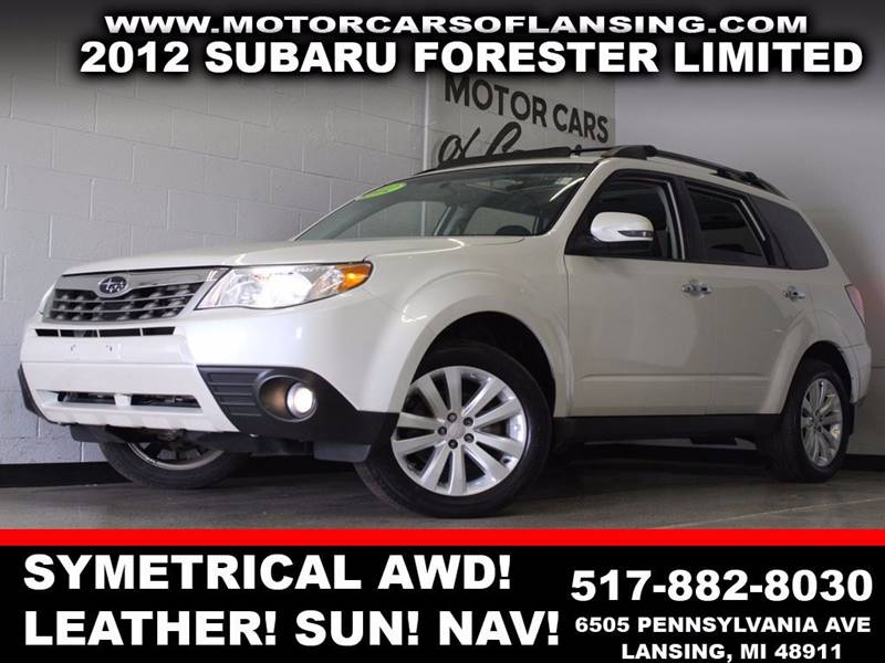 2012 SUBARU FORESTER 25X LIMITED white symetrical awd leather sunroof bluetooth navigation