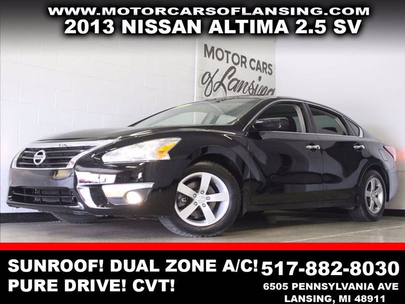 2013 NISSAN ALTIMA 25 SV black sunroof auxiliary usb dual zone ac pure drive 3 month 40