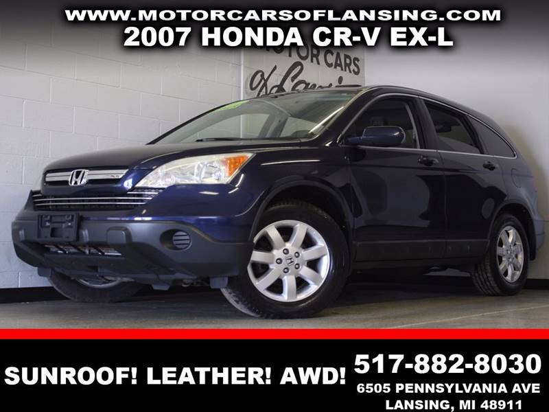 2007 HONDA CR-V EX-L blue leather sunroof auxiliary  3 month 4000 mile limited powertrain w